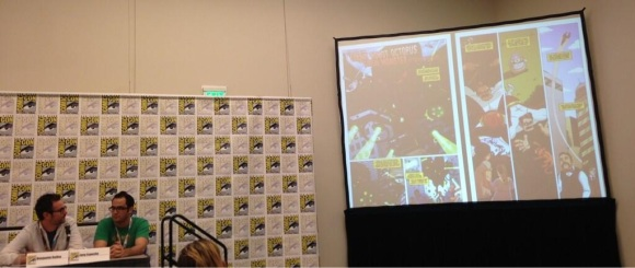 Joey and Ben talking Captain Ultimate at San Diego Comic-Con!